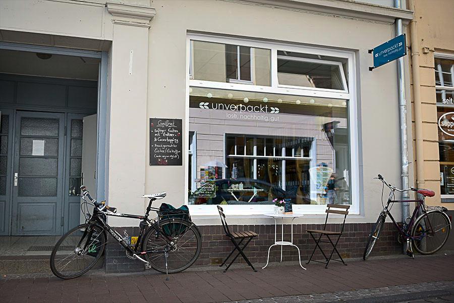 Ladengeschäft von außen Unverpackt-Lübeck
