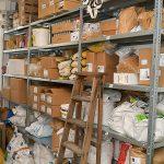 Lebensmittel in Trockensäcken im Lager
