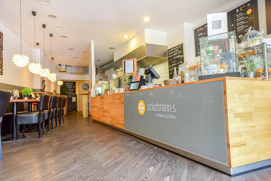 Einblick ins Restaurant Schlottmanns
