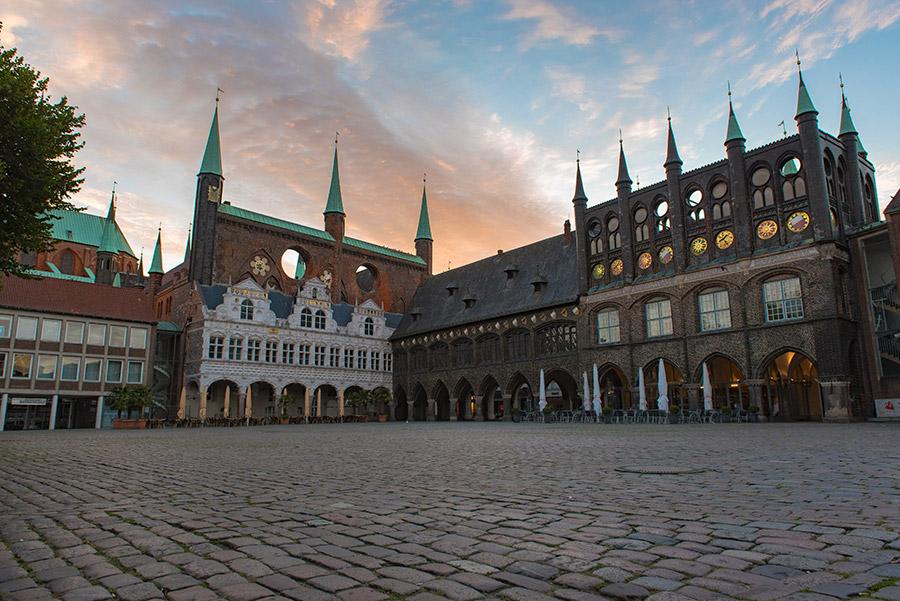 Historische Rathaus der Hansestadt Lübeck