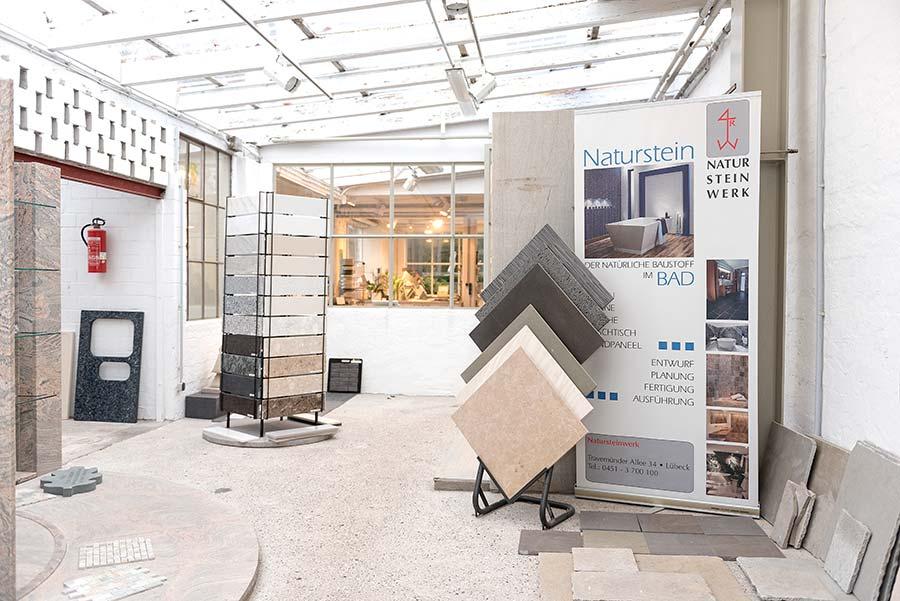 Ausstellungsbereich Steinarbeiten