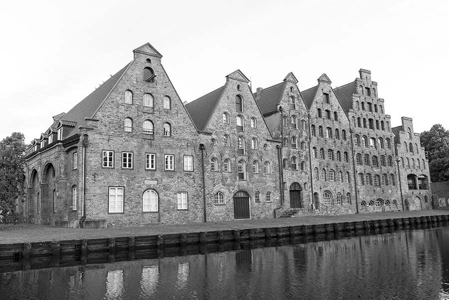 Die Salzspeicher der Hansestadt Lübeck