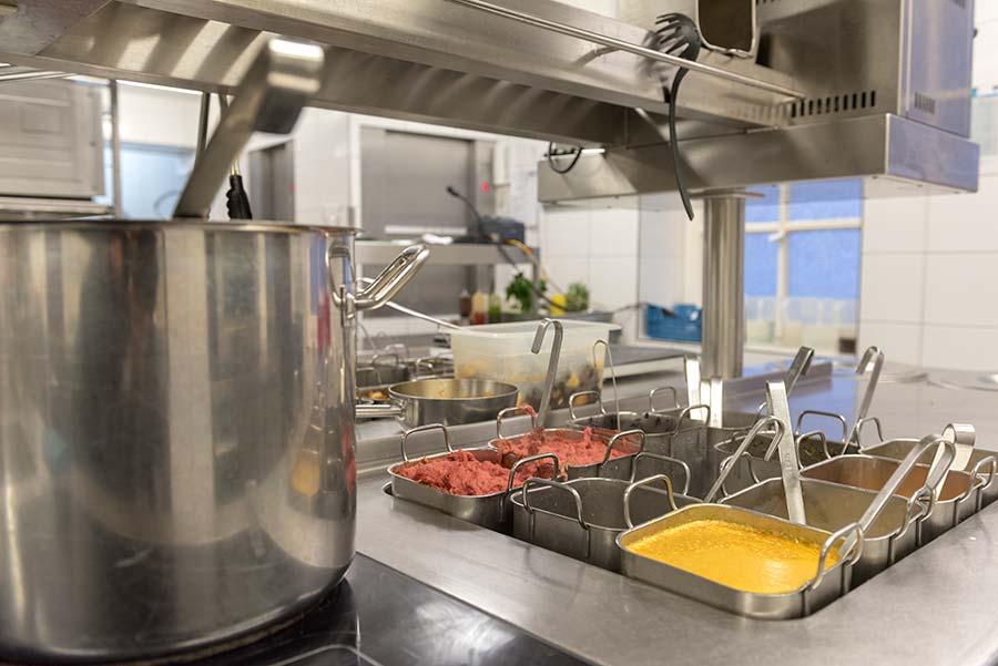 Küche in der Schiffergesellschaft