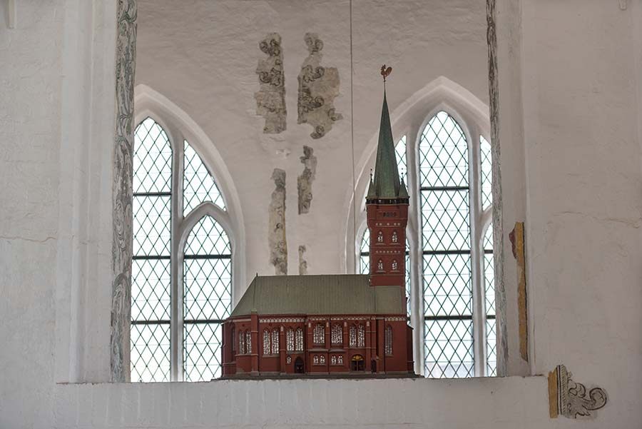 Miniaturmodell der Petrikirche