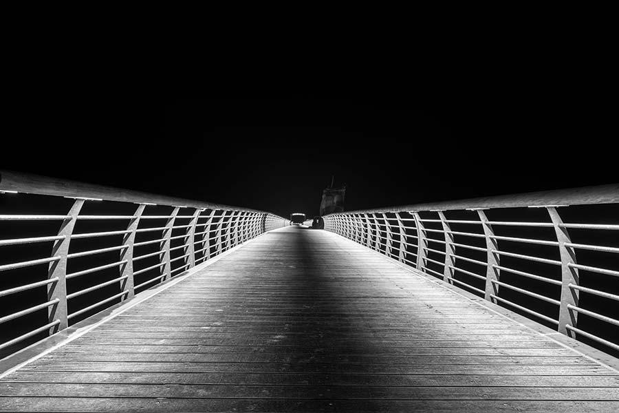 Seebrücke in Niendorf früh morgens