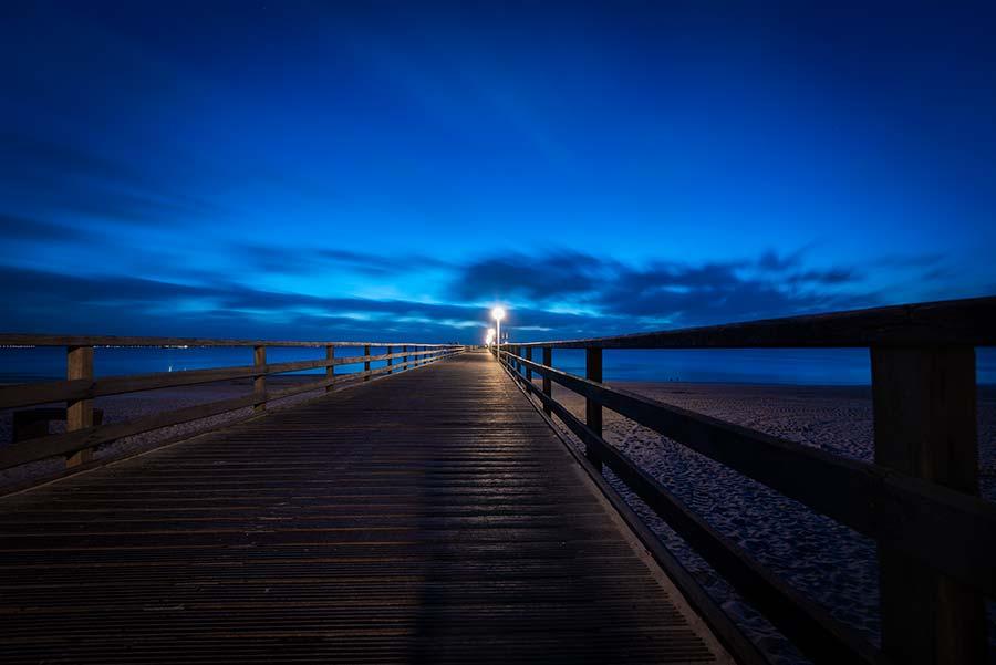 Blaue Stunde über der Ostsee