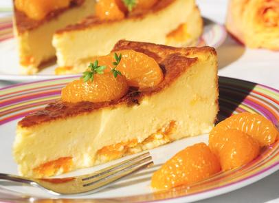 Diätkuchen - Quarkkuchen mit Mandarinen