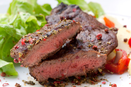 Rumpsteak medium gebraten