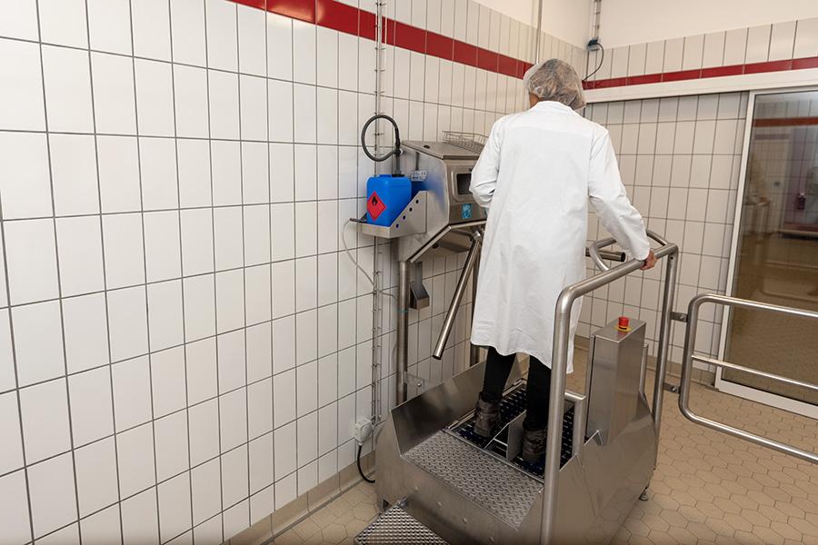 Hygieneschleuse Niedereggerhallen