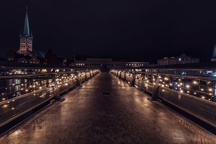 Liebesbrücke in Richtung Altstadt