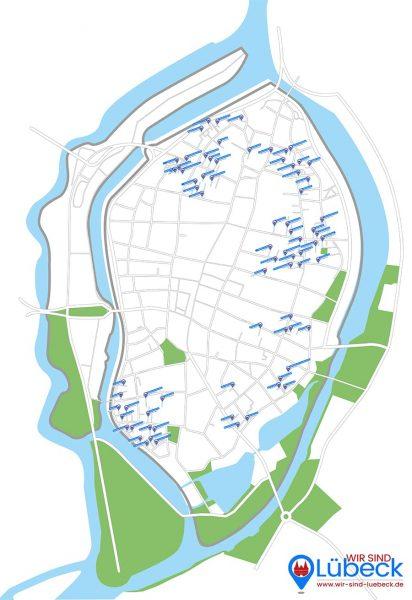 Gänge und Höfe - Lübeck gesamte Altstadt