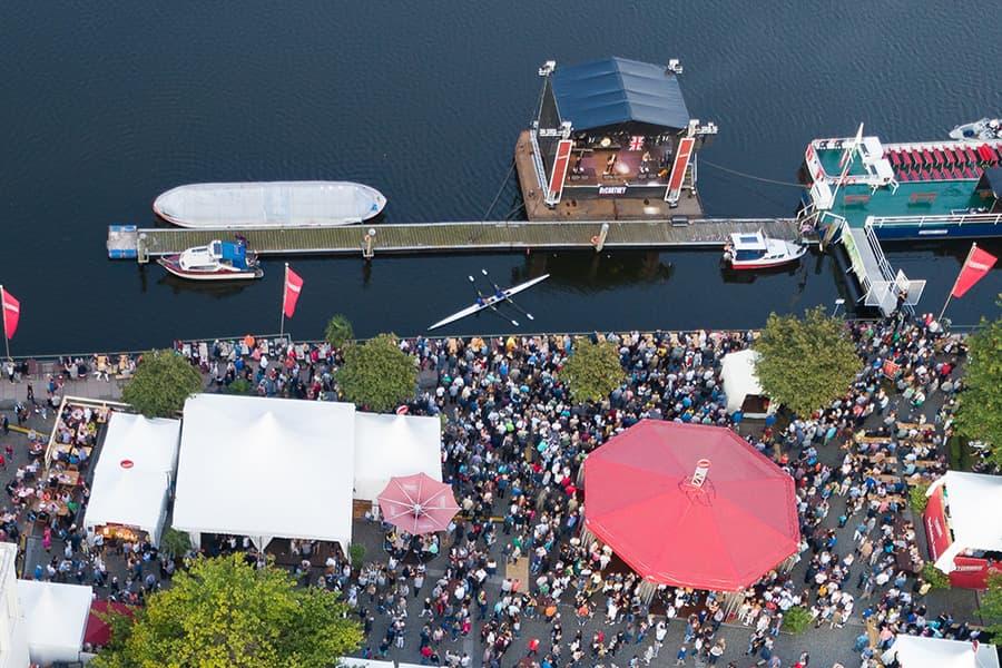 Drohnenfotografie beim Duckstein-Festival