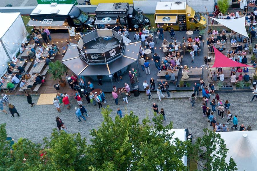 Foodtrucks beim Duckstein Festival
