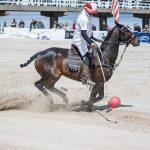 Polo Spieler auf dem Pferd
