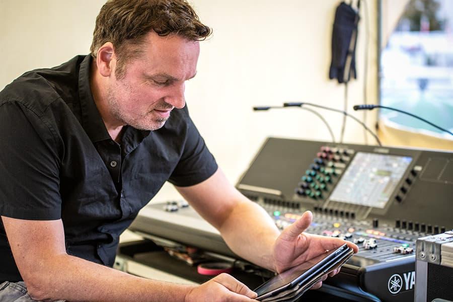 Tontechniker Meikel Frey